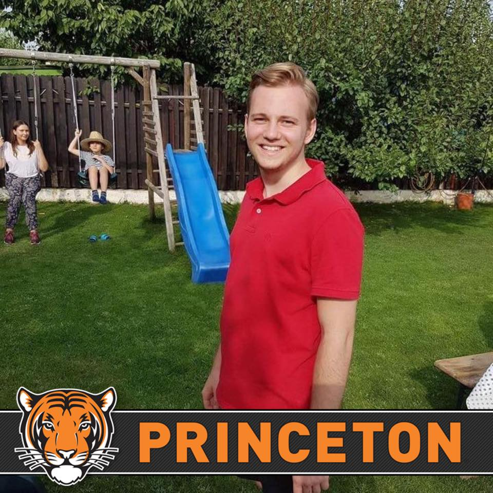 Student admitted to Princeton University, studies abroad, took a career test and English test toefl Romania